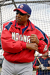 10 March 2006: Frank Robinson, Manager of the Washington Nationals, prior to a Spring Training game against the Houston Astros. The Astros defeated the Nationals 8-6 at Osceola County Stadium, in Kissimmee, Florida...Mandatory Photo Credit: Ed Wolfstein..