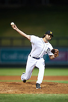 Salt River Rafters pitcher Adam Ravenelle (33), of the Detroit Tigers organization, during a game against the Surprise Saguaros on October 21, 2016 at Salt River Fields at Talking Stick in Scottsdale, Arizona.  Salt River defeated Surprise 3-2.  (Mike Janes/Four Seam Images)