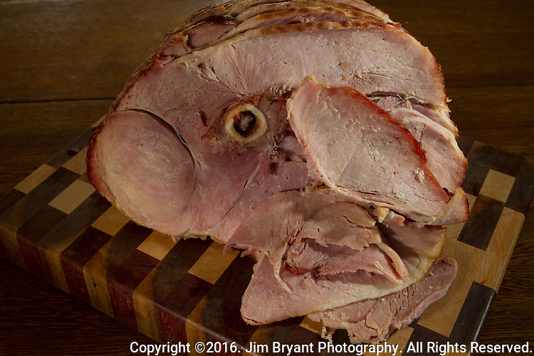 Baked spiral ham. ©2016. Jim Bryant Photo. All Rights Reserved.