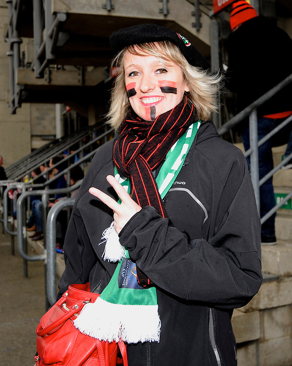 RC Toulon fan enjoying the atmosphere at Twickenham before kick off
