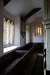 Interior village parish church of Saint Mary, Maddington, Shrewton, Wiltshire, England, UK