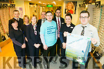 Specsavers Tralee launch the fundraiser 'Climb for Crumlin, which will take place on Saturday 7th may  instore. Pictured  l-r Noreen O'Leary, John King, Bridget Slattery, Gillian Keegan, Stephan O'Sullivan, Alan Conway, Derek Holden, Avril Fahey and Emmet O'Connor