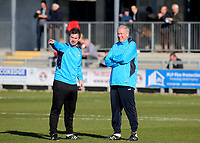 Woking's two Assistant Manager's Ian Dyer and Martin Tyler ahead of kick-off during Dartford vs Woking, Vanarama National League South Football at Princes Park on 23rd February 2019