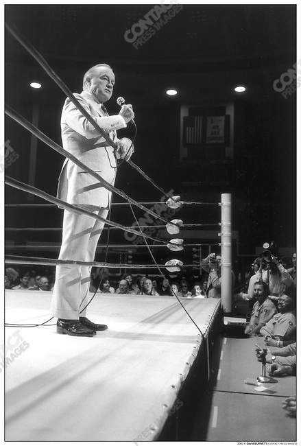 Bob Hope .George Foreman vs. Muhammad Ali fight, Salt Lake City, Utah.August 1974