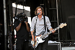 Tim Foreman of Switchfoot performs during the Hangout Music Fest in Gulf Shores, Alabama on May 18, 2012.