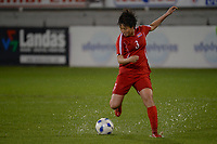 20190304 - LARNACA , CYPRUS : Pak Sw Jong pictured during a women's soccer game between Finland and Korea DPR , on Monday 4 March 2019 at the Antonis Papadopoulos Stadium in Larnaca , Cyprus . This is the third game in group A for Both teams during the Cyprus Womens Cup 2019 , a prestigious women soccer tournament as a preparation on the Uefa Women's Euro 2021 qualification duels. PHOTO SPORTPIX.BE | STIJN AUDOOREN