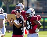 STANFORD, CA - MARCH 7, 2014--Stanford  Special Teams Graduate Assistant Derek Belch, Open Football Practices at Stanford University.