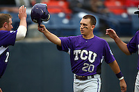 February 22 2009: Ben Carruthers of the TCU Horned Frogs during game against the CSUF Titans at Goodwin Field in Fullerton,CA.  Photo by Larry Goren/Four Seam Images