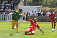 Preston North End's Sean Maguire tries a back heel<br /> <br /> Photographer Mick Walker/CameraSport<br /> <br /> Pre-Season Friendly -Bamber Bridge v Preston North End  - Saturday 7th July  2018 - Irongate Stadium,Bamber Bridge<br /> <br /> World Copyright &copy; 2018 CameraSport. All rights reserved. 43 Linden Ave. Countesthorpe. Leicester. England. LE8 5PG - Tel: +44 (0) 116 277 4147 - admin@camerasport.com - www.camerasport.com