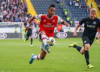 Pierre-Emerick Aubameyang (Arsenal London) gegen Martin Hinteregger (Eintracht Frankfurt) - 19.09.2019:  Eintracht Frankfurt vs. Arsenal London, UEFA Europa League, Gruppenphase, Commerzbank Arena<br /> DISCLAIMER: DFL regulations prohibit any use of photographs as image sequences and/or quasi-video.
