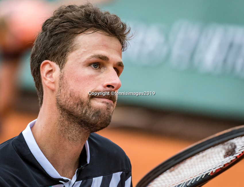 Paris, France, 26 May, 2019, Tennis, French Open, Roland Garros, The look in Robin Haase (NED) eyes<br /> Photo: Henk Koster/tennisimages.com