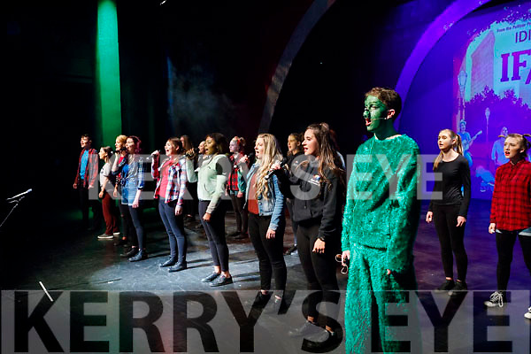 Pictured on stage at Bryan Carr School of Performing Arts annual Christmas Show 'Kris Kringle Christmas', held at Siamsa Tire, Tralee on Sunday.