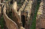Hypogeum (underground areas) detail left side Colosseum Rome