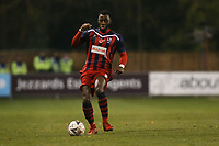 Tyrell Miller-Rodney of Hampton & Richmond Borough during Hampton & Richmond Borough vs Oldham Athletic, Emirates FA Cup Football at the Beveree Stadium on 12th November 2018