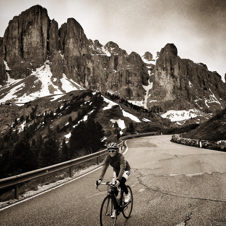 Passo Gardena, in the heart of the Dolomites, Corvara in Badia, Südtirol, Italy.