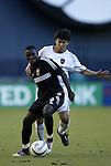 17 October 2004: Freddy Adu (9) and Joselito Vaca. DC United defeated the MetroStars 3-2 at RFK Stadium in Washington, DC during a regular season Major League Soccer game..