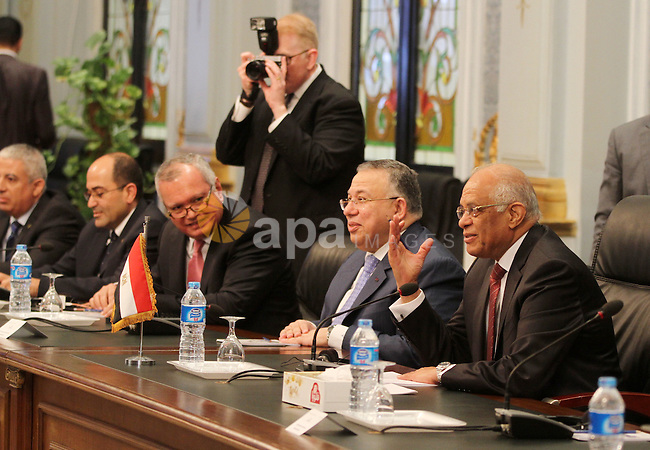 Members from the US Congress visit Egyptian parliament in Cairo, Egypt, on April 07, 2016. Photo by Stranger