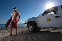SAN ONOFRE, CA – OCTOBER 10, 2010: Matt Bayless, a lifeguard at San Onofre State Beach, poses for a portrait on Sunday, October 10, 2010 near San Clemente, California. Bayless has been a lifeguard at San Onofre State Beach for 7 years. (Photo by Suzanne Tylander ©2010)