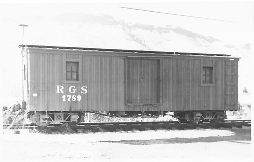 RGS outfit car #1789 at Colorado Railroad Museum.<br /> RGS  Golden, CO  Taken by Maxwell, John W. - 3/21/1964