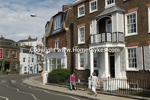 Barnes southwest London Uk. The Terrace road.