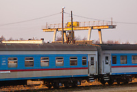 Russia, Sakhalin, Nogliki. From the train Nogliki-Yuzhno-Sakhalinsk, which takes 14 hours.