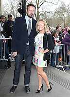 Jamie Theakston and Emma Bunton arriving for the TRIC Awards 2014, at Grosvenor House Hotel, London. 11/03/2014 Picture by: Alexandra Glen / Featureflash