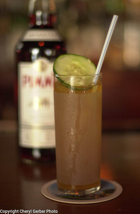 Pimm's Cup is a specialty drink at the Napoleon House in New Orleans, March 23, 2005..(CHERYL GERBER PHOTOS).
