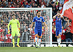 Chelsea's Gary Cahill looks on dejected after his mistake gifts Arsenal their opening goal during the Premier League match at the Emirates Stadium, London. Picture date September 24th, 2016 Pic David Klein/Sportimage