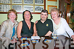 Carer's Association: Members of the Kerry Carer's Association enjoying a night out at The saddle bar in Listowel on Friday night last. L- R : Marion Lyons, Olive Diggin John Murphy & Mary Murphy.
