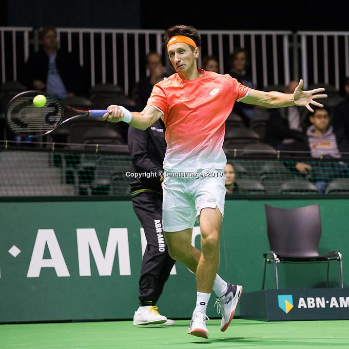 Rotterdam, Netherlands, 9 februari, 2019, Ahoy, Tennis, ABNAMROWTT,  SERGIY STAKHOVSKY (UKR) Photo: Henk Koster/tennisimages.com