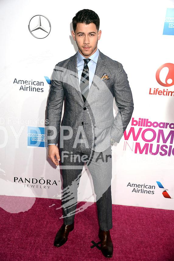 Nick Jonas attends Billboard Women In Music 2016 at Pier 36 on December 9, 2016 in New York City.