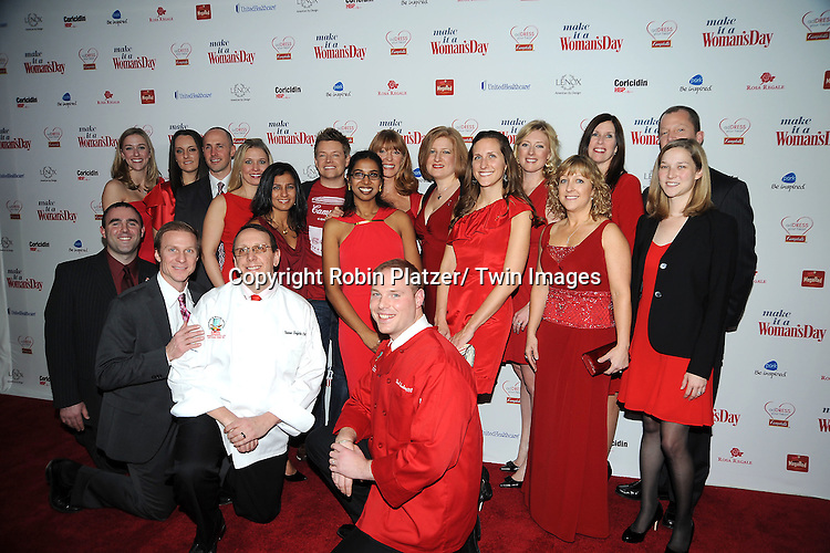 Campbells group  attends Woman's Day Red Dress Awards on February 15, 2012 at Jazz at Lincoln Center in New York City. Dr Oz, Star Jones and US Surgeon General Dr Regina Benjamin were honored.