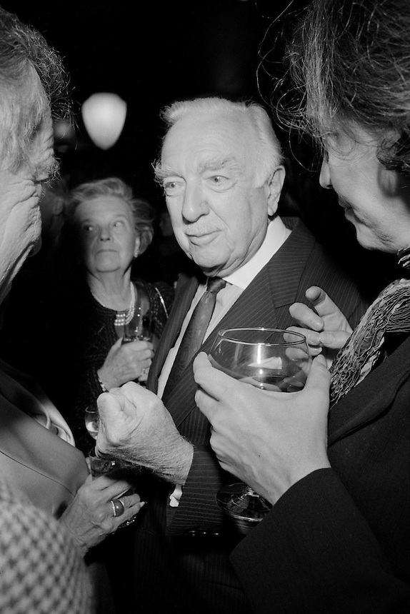 TV News Anchor Walter Cronkite at Vanity Fair's Oscar Party at Elaine's Restaurant, NYC, March 27, 1995