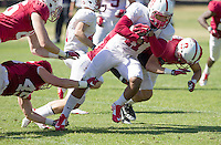 STANFORD, CA - MARCH 7, 2014--Stanford's Dontonio Jordan, during Open Football Practices at Stanford University.