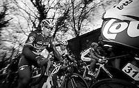 De Ronde van Vlaanderen 2012..Fabian Cancellara up the Taaienberg