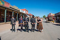 Getting ready for the re-enactment of Gun fight at OK Corral