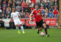 Pictured: Daley Blind of Manchester United Sunday 30 August 2015<br /> Re: Premier League, Swansea v Manchester United at the Liberty Stadium, Swansea, UK