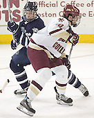 Trevor Smith, Brian Boyle - The Boston College Eagles and University of New Hampshire earned a 3-3 tie on Thursday, March 2, 2006, on Senior Night at Kelley Rink at Conte Forum in Chestnut Hill, MA.  Boston College honored its three seniors, captain Peter Harrold and alternate captains Chris Collins and Stephen Gionta, before the game.