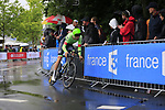 Taylor Phinney (USA) Cannondale Drapac in action during Stage 1, a 14km individual time trial around Dusseldorf, of the 104th edition of the Tour de France 2017, Dusseldorf, Germany. 1st July 2017.<br /> Picture: Eoin Clarke | Cyclefile<br /> <br /> <br /> All photos usage must carry mandatory copyright credit (&copy; Cyclefile | Eoin Clarke)