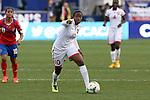 24 October 2014: Tasha St Louis (TRI). The Costa Rica Women's National Team played the Trinidad & Tobago Women's National Team at PPL Park in Chester, Pennsylvania in a 2014 CONCACAF Women's Championship semifinal game, which serves as a qualifying tournament for the 2015 FIFA Women's World Cup in Canada. Costa Rica advanced to the championship game, and qualified for next year's Women's World Cup, by winning the penalty shootout 3-0 after the game ended in a 1-1 tie after double overtime.