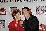 Marion Ross (Happy Days) wins best supporting actress and poses with Kenneth Del Vecchio at Gala Awards Night - Closing Night - Hoboken International Film Festival held June 5, 2014 at the Paramount Theatre, Middletown, New York. (Sue Coflin/Max Photos)