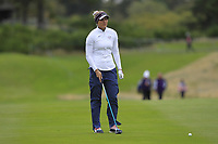 Lexi Thompson of Team USA on the 2nd fairway during Day 2 Fourball at the Solheim Cup 2019, Gleneagles Golf CLub, Auchterarder, Perthshire, Scotland. 14/09/2019.<br /> Picture Thos Caffrey / Golffile.ie<br /> <br /> All photo usage must carry mandatory copyright credit (© Golffile | Thos Caffrey)