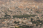 Samaria, a view of the Palestinian city Nablus as seen from Mount Ebal