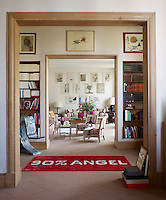The 1930's Paris apartment was reworked by the designer Jacques Grange and filled with Sabine de Gunzburg's eclectic collection of artwork and artefacts
