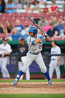 South Bend Cubs left fielder Zach Davis (22) at bat during a game against the Kane County Cougars on July 23, 2018 at Northwestern Medicine Field in Geneva, Illinois.  Kane County defeated South Bend 8-5.  (Mike Janes/Four Seam Images)