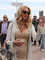 Valeria Marini Strolling on the Croisette - 67th Annual Cannes Film Festival - France