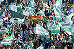 Betis supporters during the match between Real Betis and Recreativo de Huelva day 10 of the spanish Adelante League 2014-2015 014-2015 played at the Benito Villamarin stadium of Seville. (PHOTO: CARLOS BOUZA / BOUZA PRESS / ALTER PHOTOS)