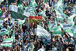 Betis supporters during the match between Real Betis and Recreativo de Huelva day 10 of the spanish Adelante League 2014-2015 014-2015 played at the Benito Villamarin stadium of Seville. (PHOTO: CARLOS BOUZA / BOUZA PRESS / ALTER PHOTOS)