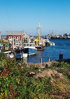 Fishing village, Menemsha, Chilmark, Martha's Vineyard, Massachusetts, USA