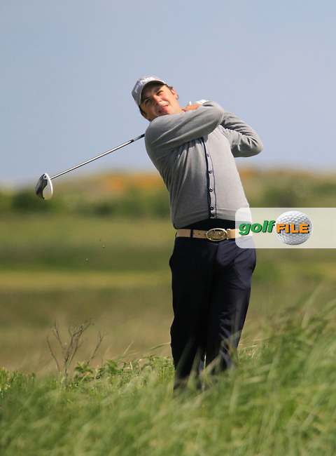 Davey Barry (Mahon) on the 10th tee during the 2nd round of the East of Ireland Amateur Open Championship 2013 Co Louth Golf club 2/6/13<br /> Picture:  Thos Caffrey / www.golffile.ie